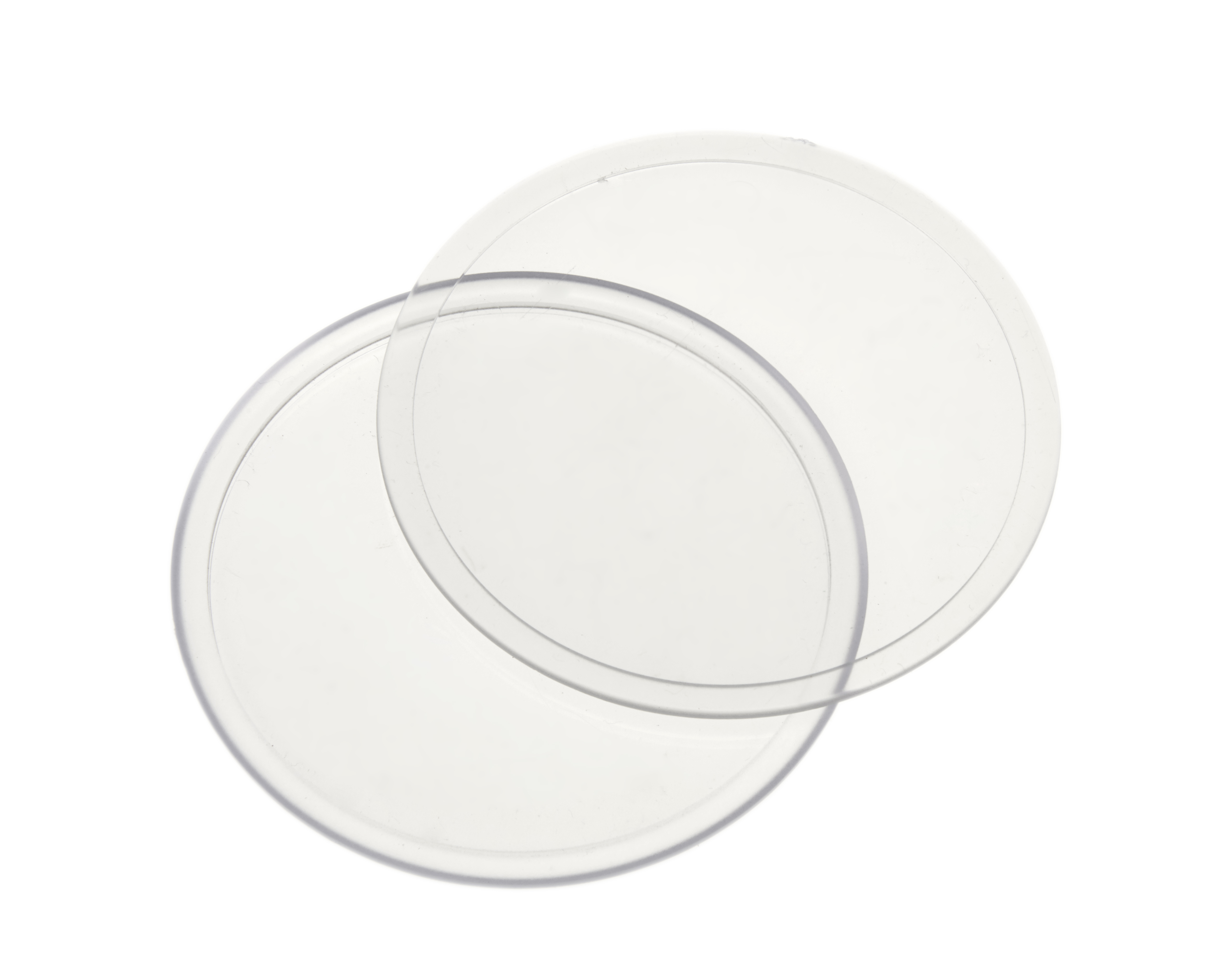 90mm Diameter (Insert) Clear Acrylic Coaster