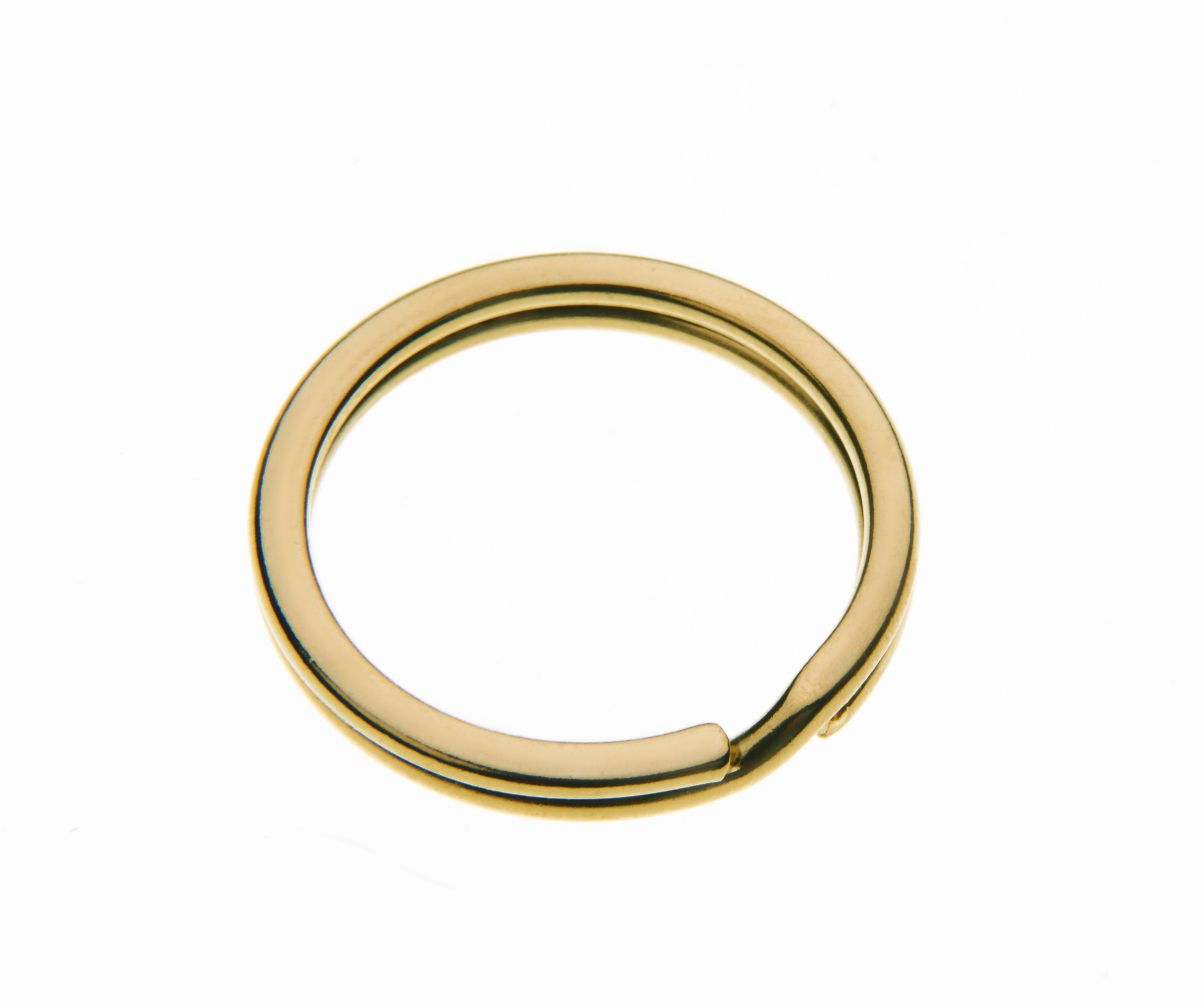 26mm Flat Splitring Gilt Plate