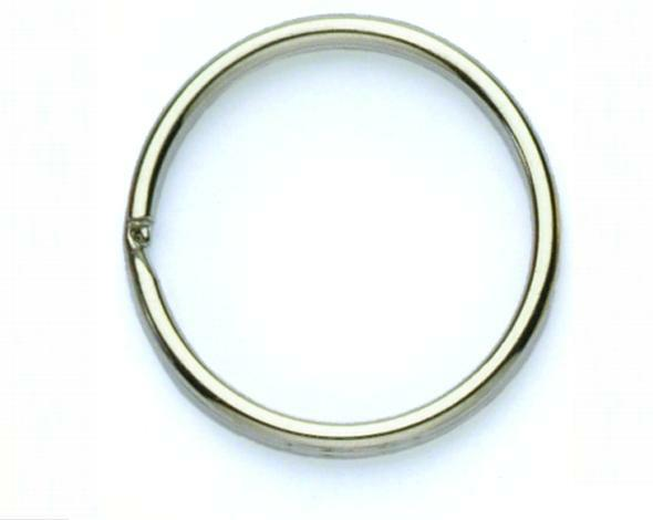 24mm Split Ring Nickel Plated