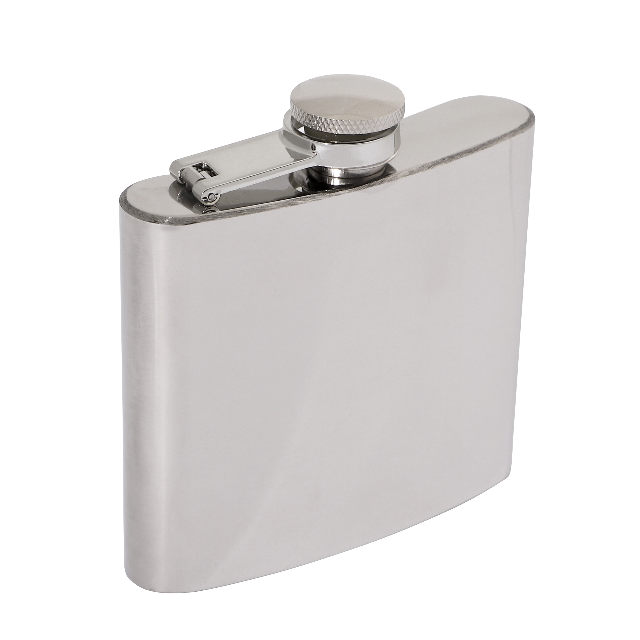 Polished Stainless Steel 5oz Hip Flask 90 x 95mm