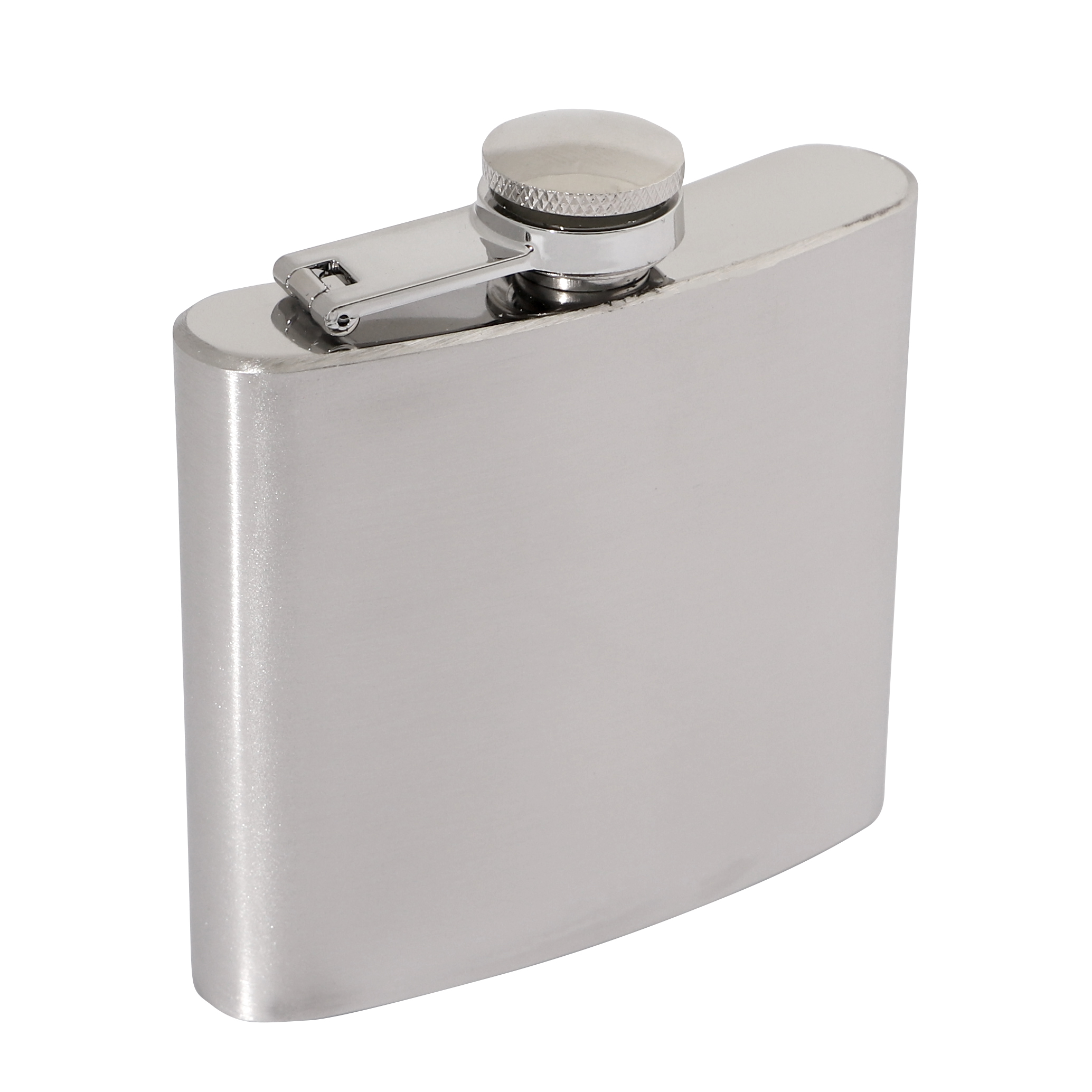 Brushed Stainless Steel 5oz Hip Flask 90 x 95mm