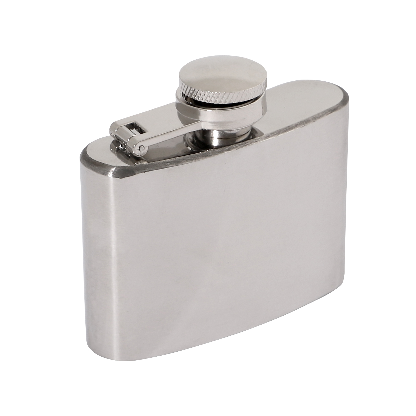 Polished Stainless 2oz Hip Flask 70 x 65mm