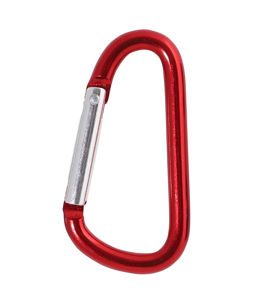 57mm Aluminium carabiner, Red