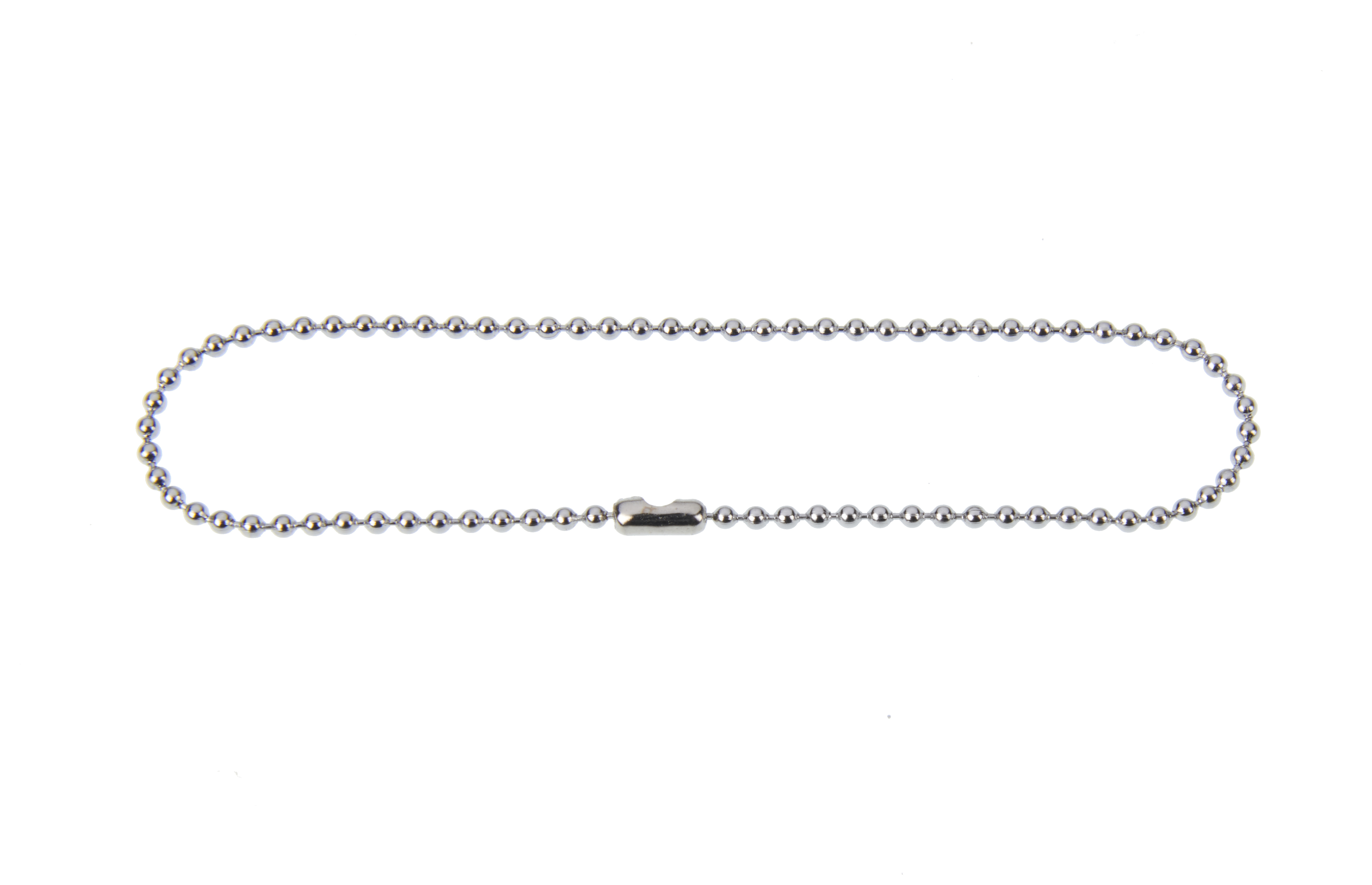 1.5mm x 150mm (6 Inch)  Ball Chain With Connector Tin Plated