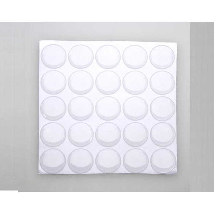 1 Inch (25.4mm) Diameter clear adhesive dome