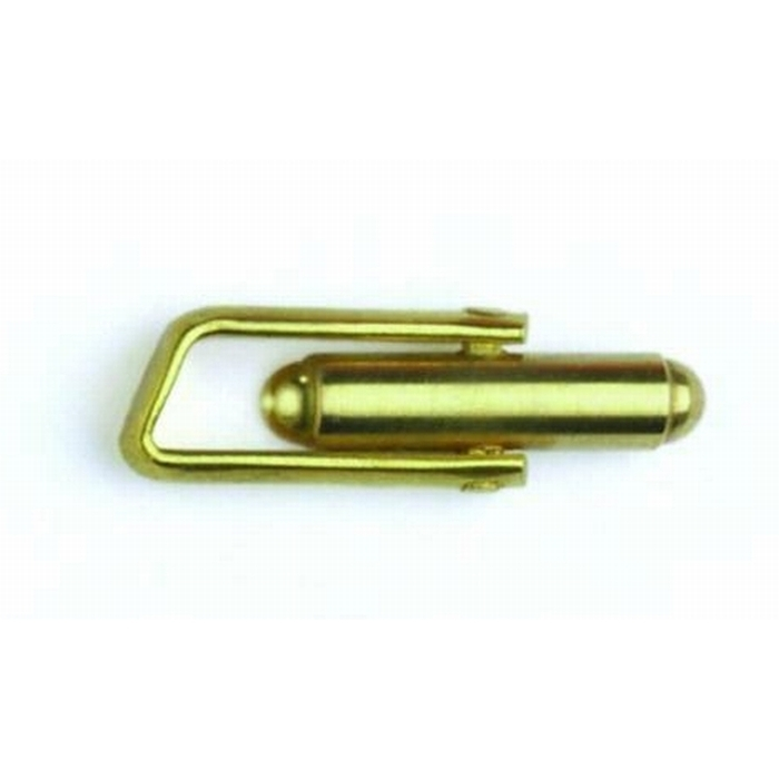 Brass Cufflink Angled Top Short Frame