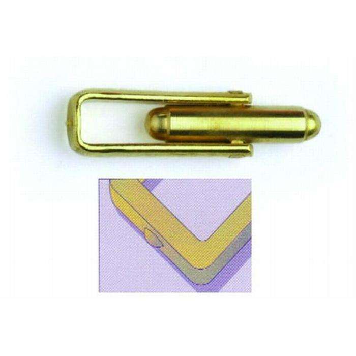 Brass Fusion Cufflink Straight Frame