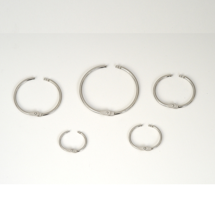 19mm (ID) Hinged Ring Nickel Plated Joining Ring