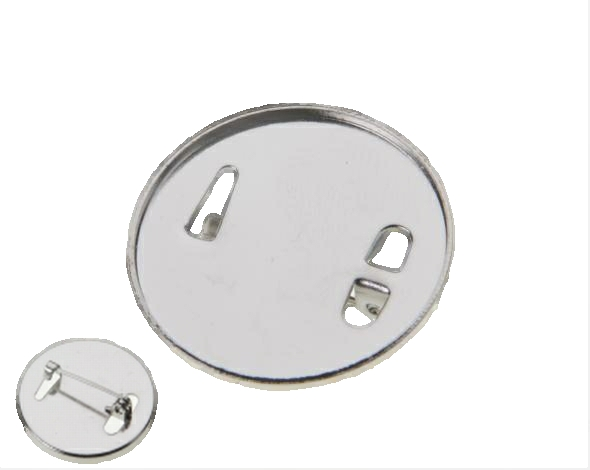 1 Inch Brooch Back Nickel Plated