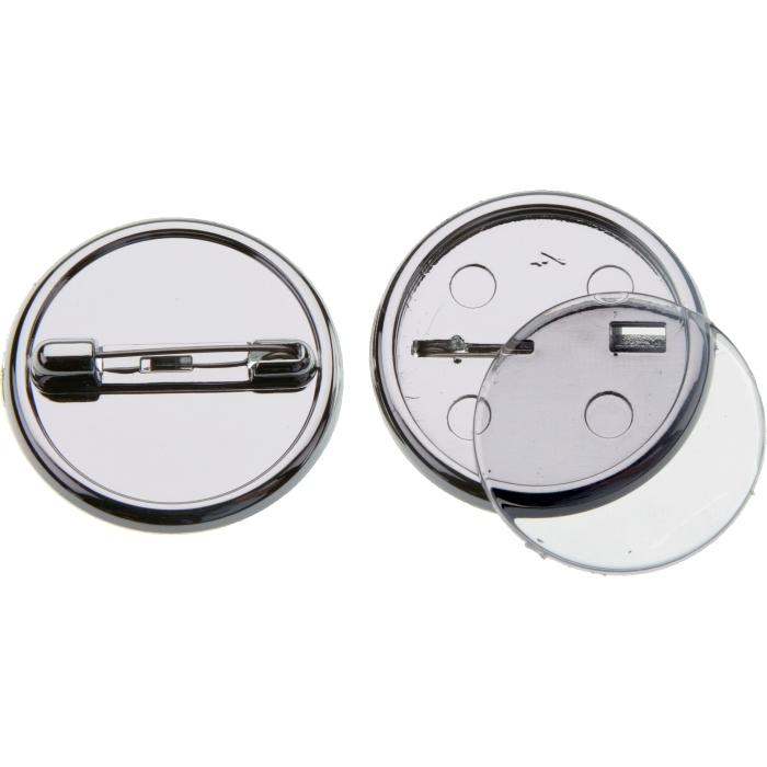 25mm Silver Plastic Button Badge With Dome