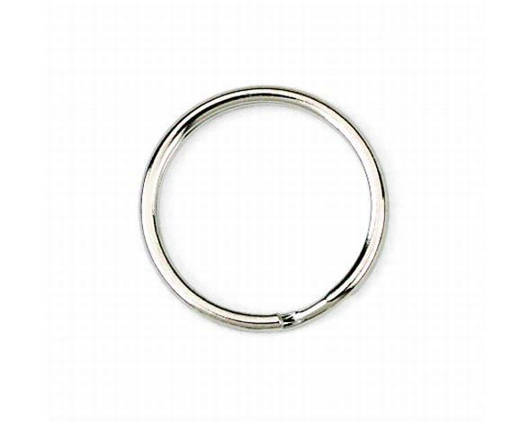 10mm Split Ring Nickel Plated.
