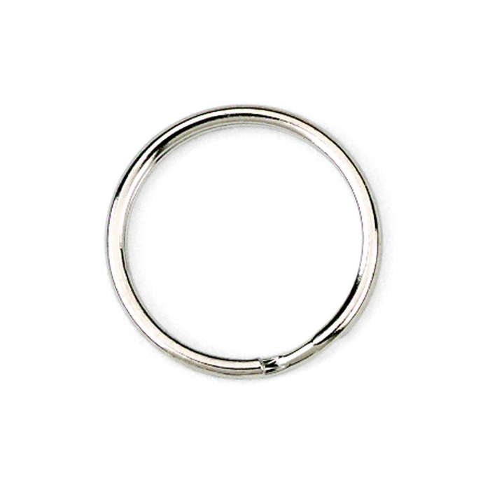 20mm Heavy Weight Splitring Nickel Plated
