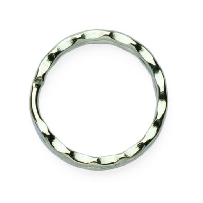 25mm Ripple Split Ring Nickel Plated