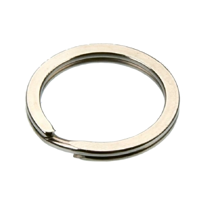 26mm Flat Split Ring Nickel Plate