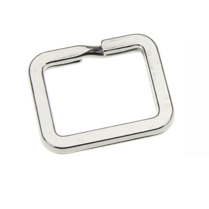 Rectangular Splitring 28 x 24mm Nickel Plated