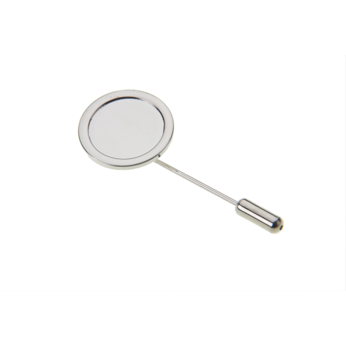 Stick Pin And Protector With 16mm Pad Nickel Plated