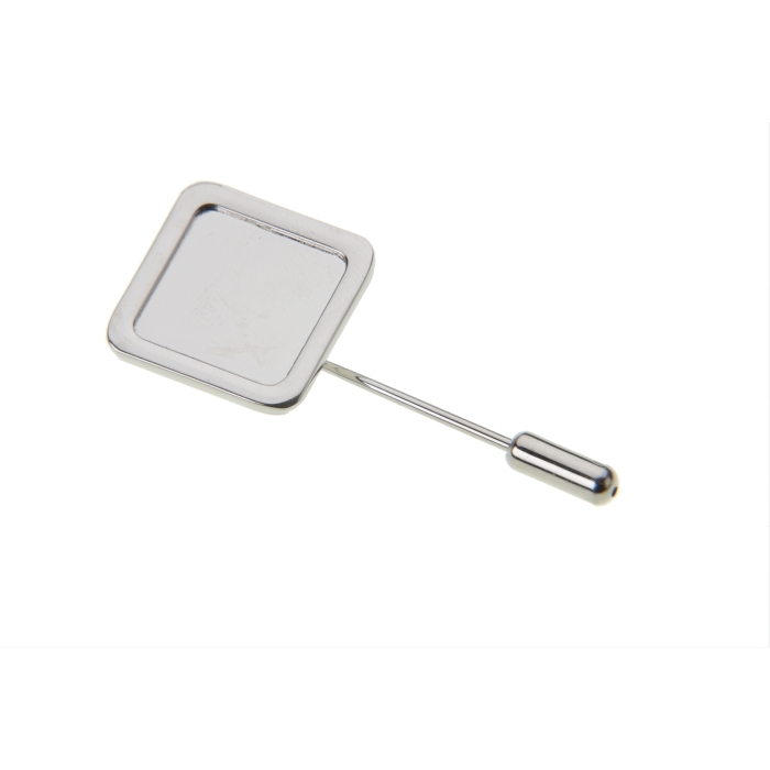 Stick Pin And Protector With 16mm X 16mm Pad Nickel Plated