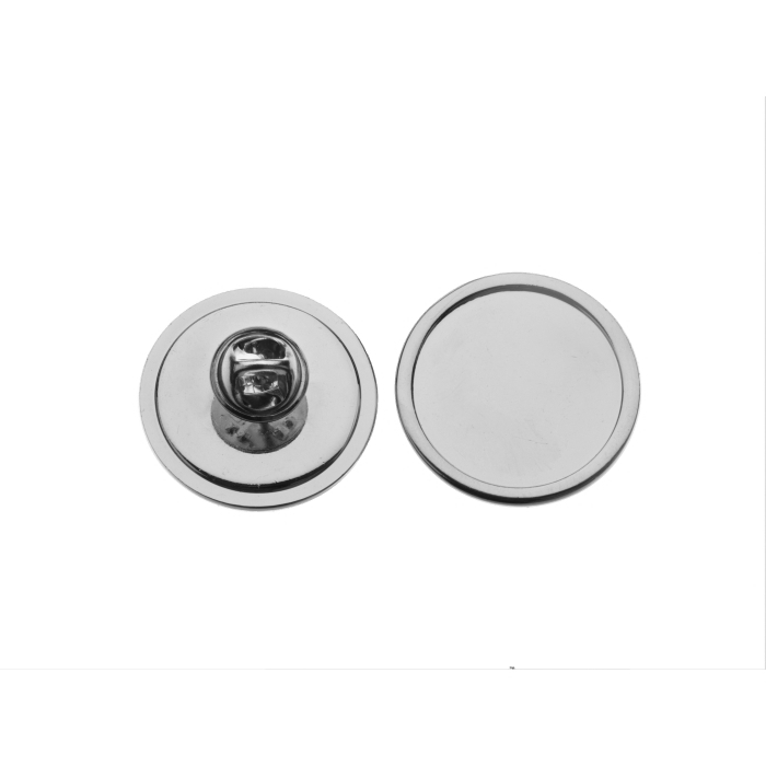 Tie Pin And Clutch With 16mm Pad Nickel Plated