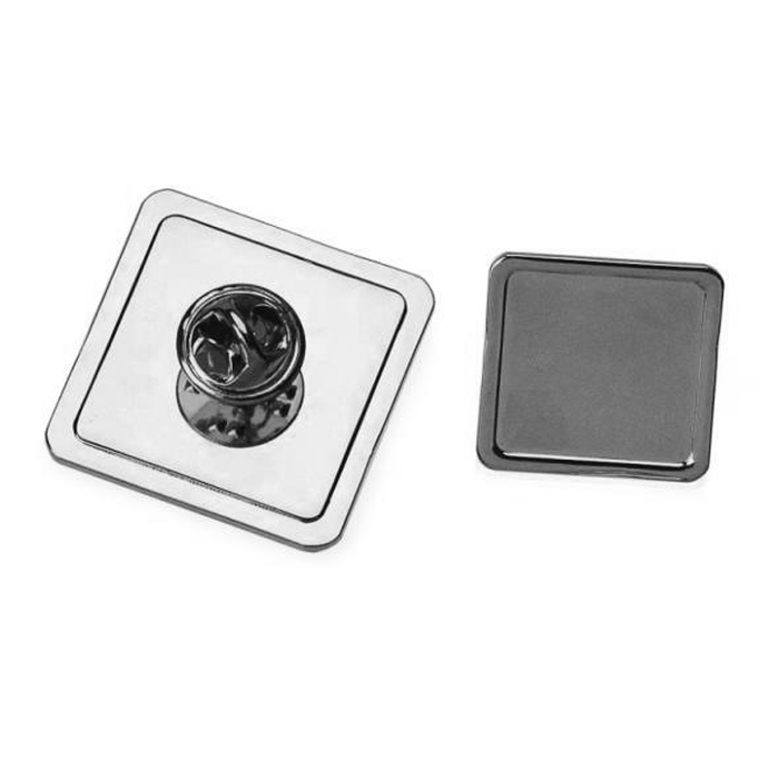 Tie Pin And Clutch With 16mm X 16mm Pad Nickel Plated