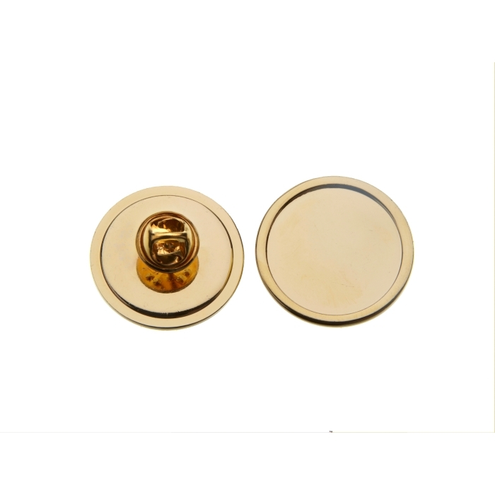 Tie Pin And Clutch With 25mm Pad Gold Plated