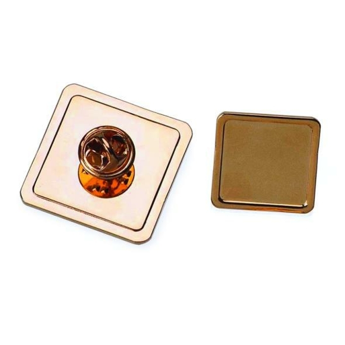 Tie Pin And Clutch With 25mm X 25mm Pad Gold Plated