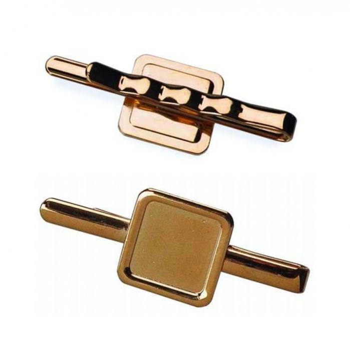 Tie Slide With 16mm X 16mm Pad Gold Plated