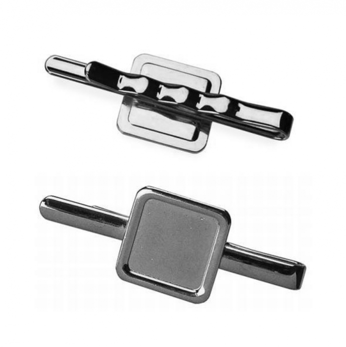 Tie Slide With 16mm X 16mm Pad Nickel Plated