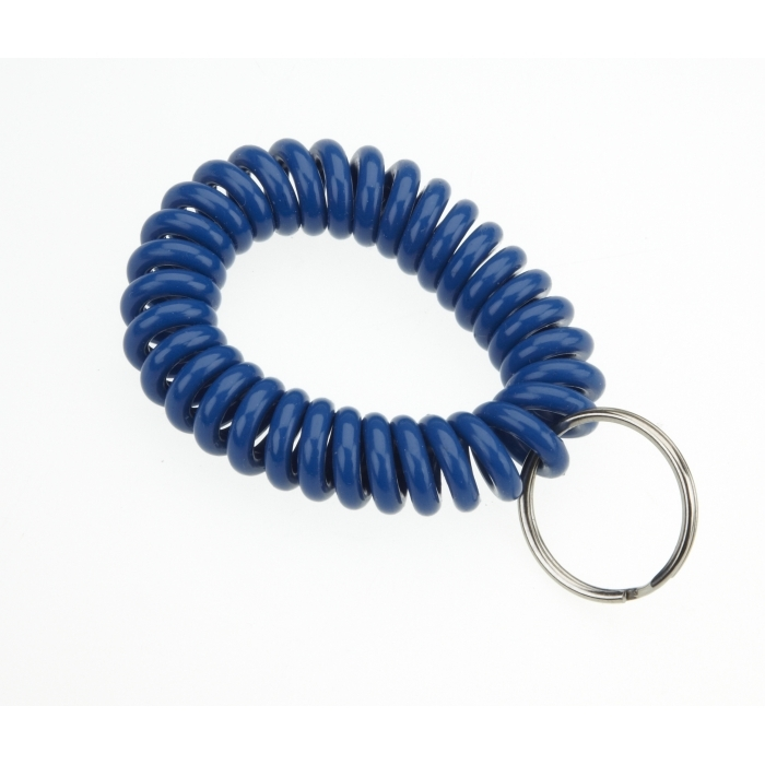 Plastic Wrist Coil With 25mm Splitring Blue