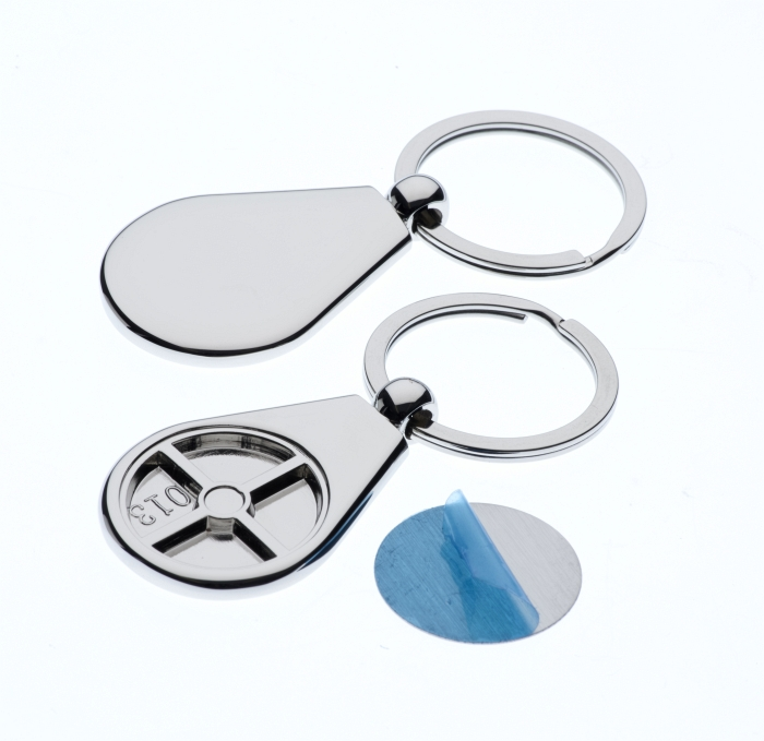 Polished Pear Keyring with 26mm Loose Engraving Plate