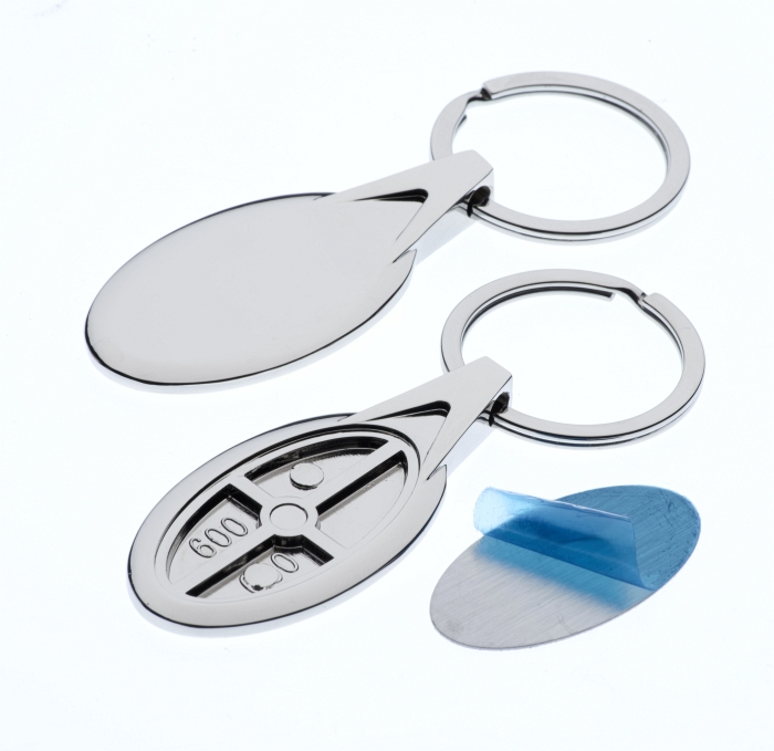 Polished Oval Keyring with 20 x 38mm Loose Engraving Plate