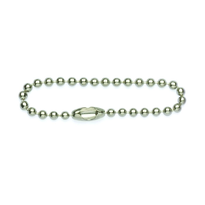 10 Inch (254mm) Ball Chain With Connector Tin Plated