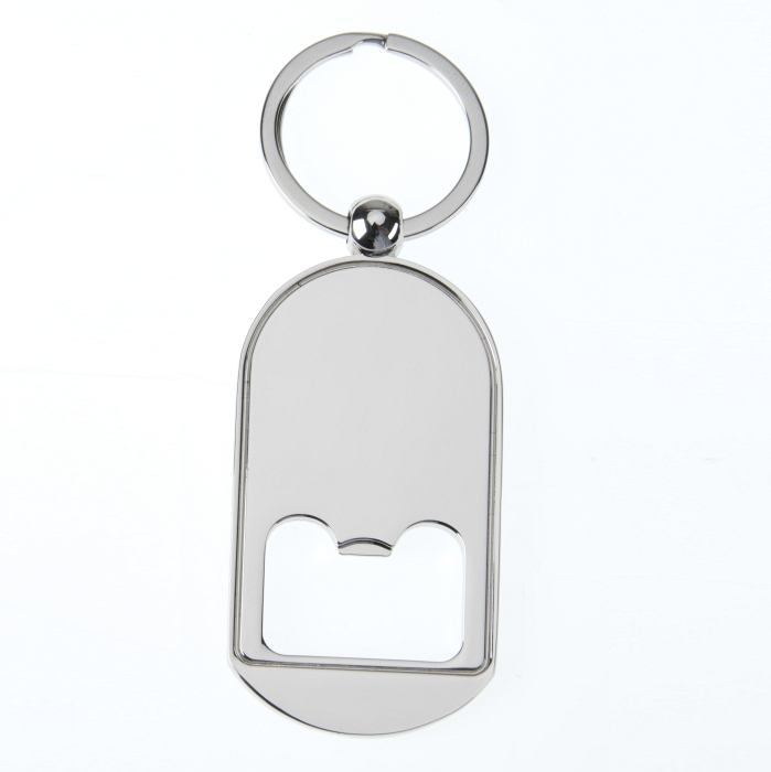 Bottle opener keyring 65 x 36mm with 30mm Recess