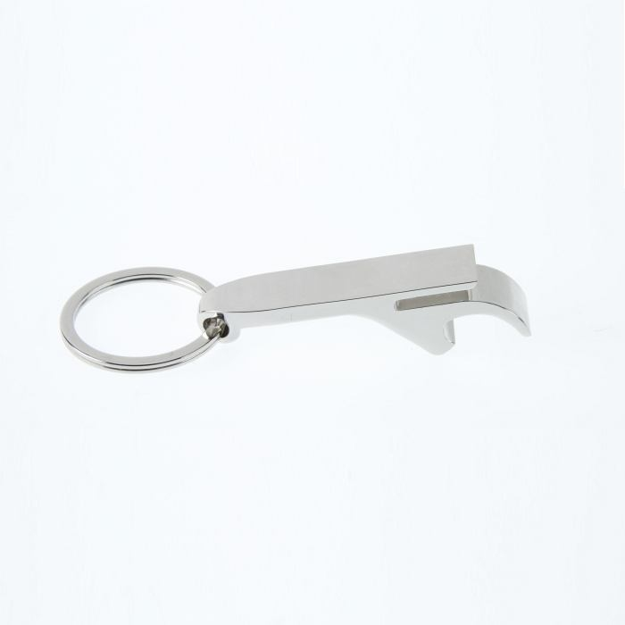 Bottle opener keyring with ring pull slot 62 x 12mm
