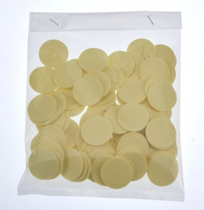 25mm x 1mm Self adhesive pad 100 Pieces Per Bag