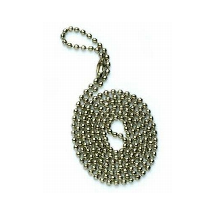 30 Inch (762mm) Ball Chain With Connector Tin Plated