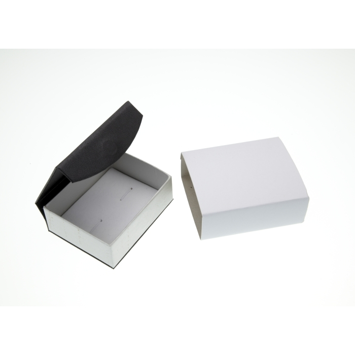 Black Magnetic Cufflink Box 79mm x 63mm x 29mm Deep