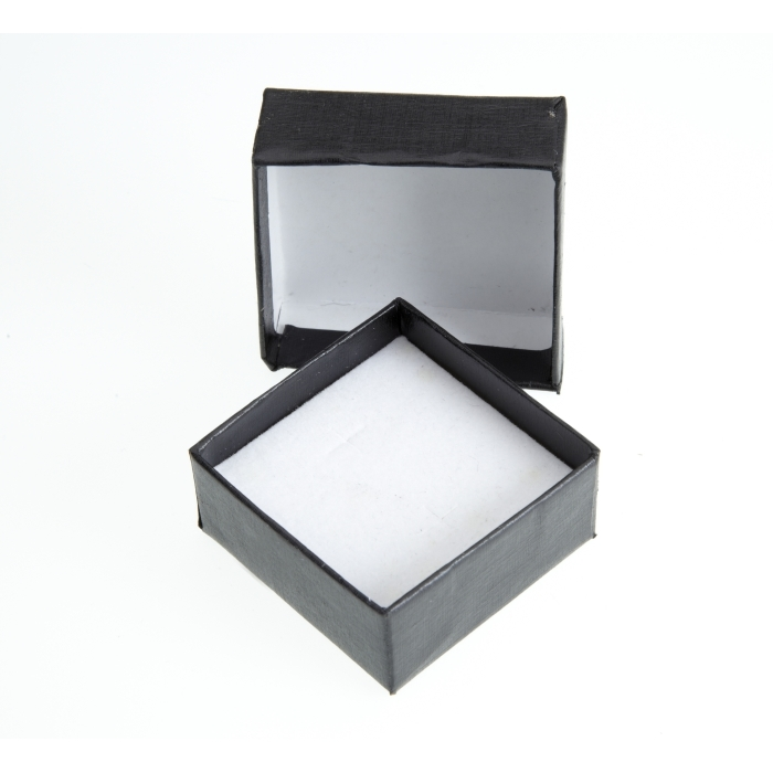Two Piece Black Jewellery Box 46mm x 46mm x 22mm Deep
